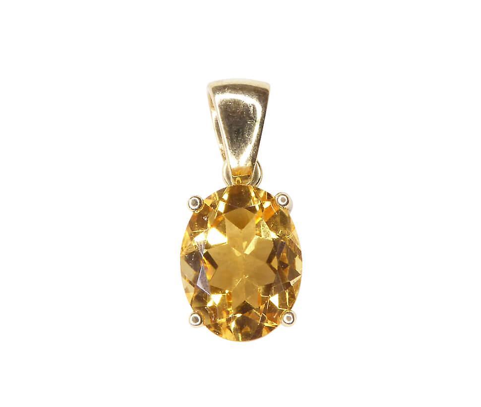 14 k gold pendant with citrine