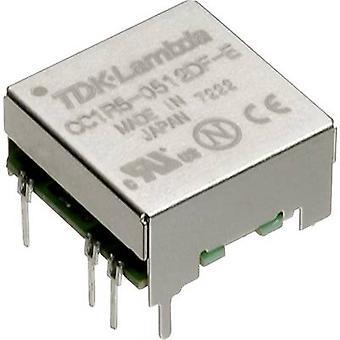 TDK-Lambda CC-1R5-4812DF-E DC/DC converter (print) 48 V DC -12 V DC, 12 V DC, 15 V DC 0.06 A 1.5 W No. of outputs: 2 x
