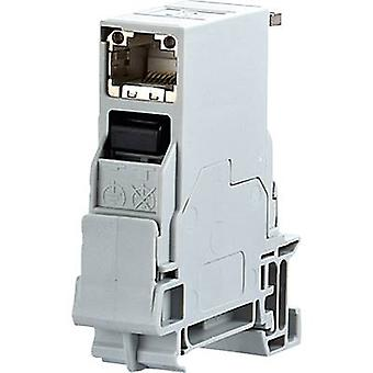 Metz Connect 1401106113KE Network outlet DIN rail CAT 6 Light grey