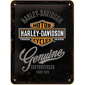 Харлей Дэвидсон подлинной металлический знак (200 X 150 мм)