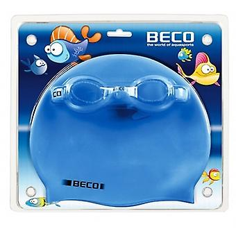 BECO Kids Swimming Cap And Goggle Set - Ages 6 -14