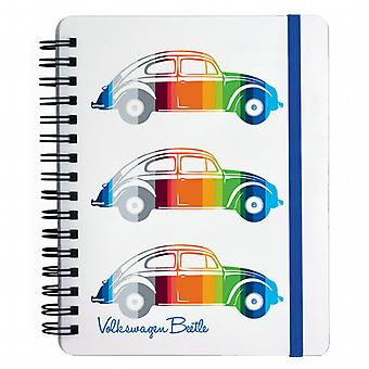 Official VW Beetle A6 Ring Binder Notepad - Coloured Stripes note book