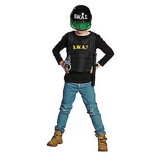 SWAT Weste mit Zubehör Kinder Kostüm Junge Spezialeinheit