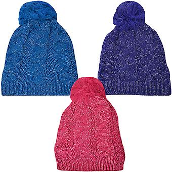 ProClimate Thinsulate wasserdichte Winter Kabel stricken Pom Pom Beanie Pudelmütze