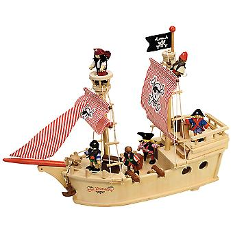 Tidlo in legno gioco nave pirata Paragon Set accessori