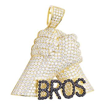 Prime Bling - 925 sterling silver BROS pendentif or