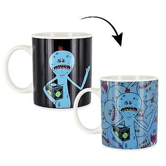 Rick and Morty Thermoeffekt -Tasse Mr. Meeseeks weiß, bedruckt, aus 100% Keramik, Fassungsvermögen ca. 315 ml..