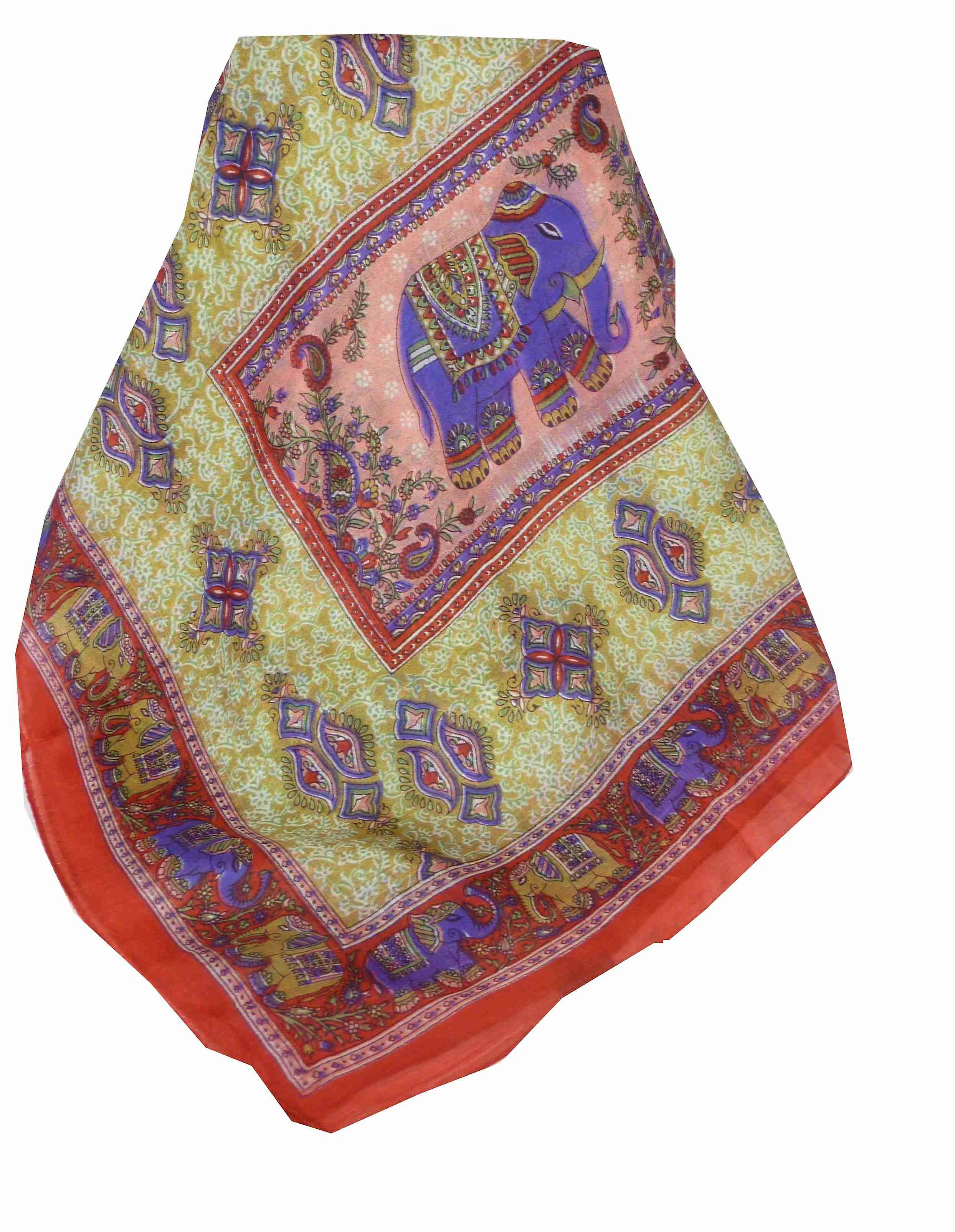 Mulberry Silk Traditional Long Scarf Rei Red by Pashmina & Silk