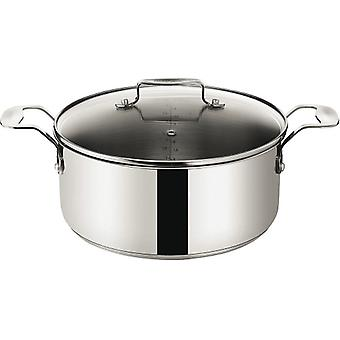 Jamie Oliver Stainless Steel Everyday Induction 24cm 4.7L Stewpot Stockpot