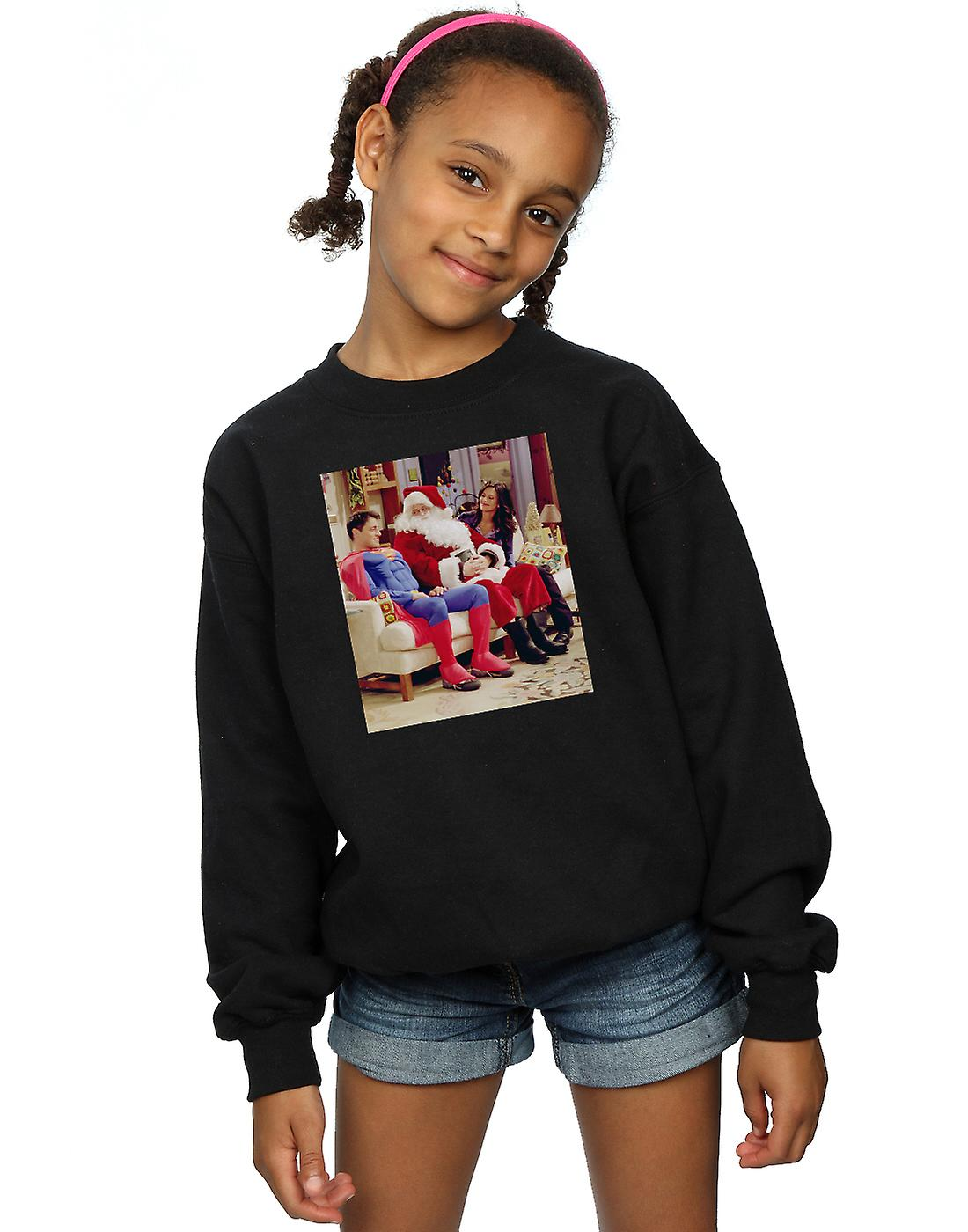 Friends Girls Couch Santa Sweatshirt