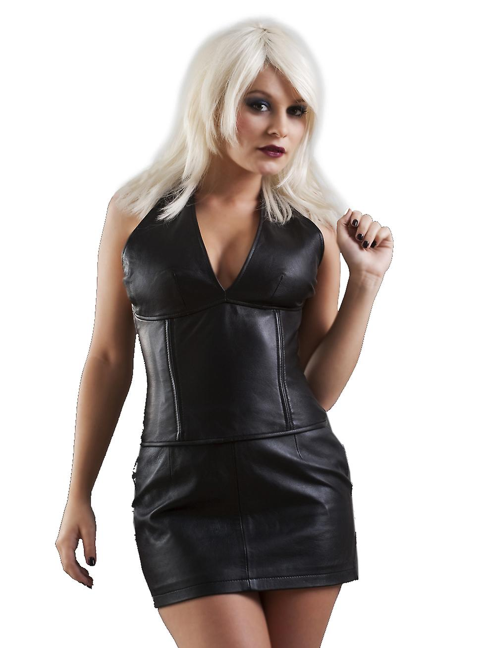 Honour Women's Classic Mini Skirt in Latex Rubber Black Sexy Outfit