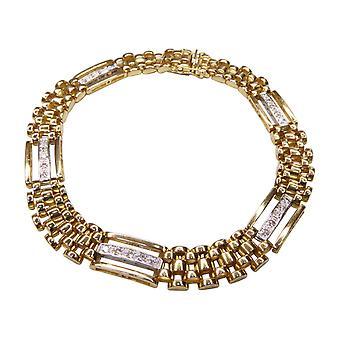18 k bicolor bracelet with diamond