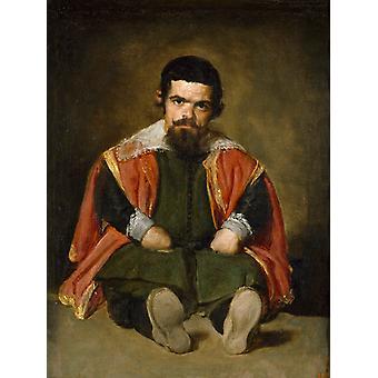 Un enano sentado en el suelo, Diego Velázquez, 50x37cm