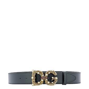 Dolce E Gabbana Be1346ak13380999 Dames's Zwart Lederen Riem