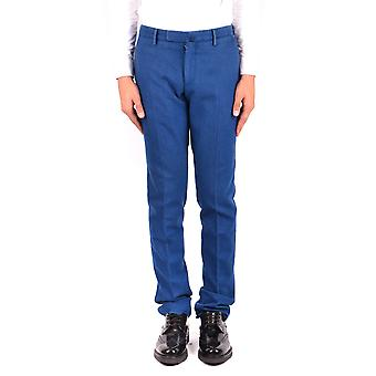 Incotex Ezbc093050 Men's Blue Wool Pants