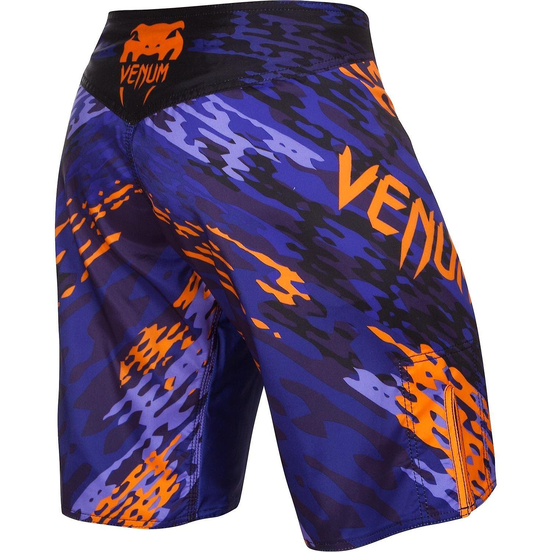 VM Mens Neo Camo MMA trening kampen Shorts - blå/oransje/svart
