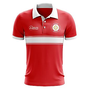 Sikkim-Konzept-Streifen-Polo-Shirt (rot)