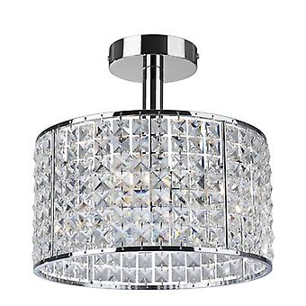 Firstlight-4 luz semi Flush cuarto de baño techo colgante luz cromo, cristal IP44-6152CH