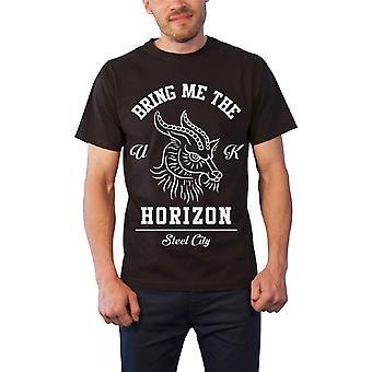 Bring Me The Horizon Mens T Shirt Black Goat Head band Logo Official