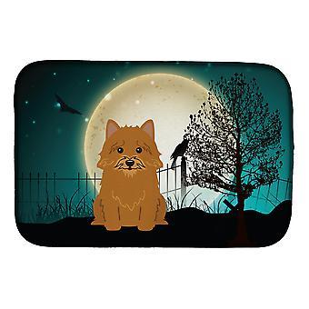 Carolines trésors BB2210DDM Halloween effrayant Norwich Terrier plat Mat séchage