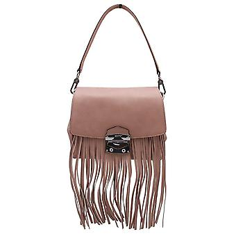 Abro Leather Fringe Shoulder Handbag