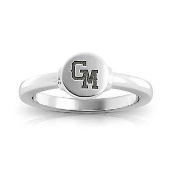 George Mason University Engraved Sterling Silver Signet Ring