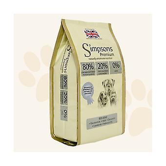 Simpsons Premium Adult 80/20 viandes, scampis & poisson sec nourriture pour chien - 2kg
