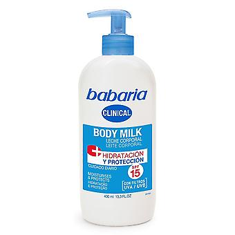 Babaria Clinical Body Milk 400ml SPF15 UVA/UVB Moisturises > Protects