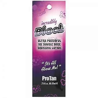 Pro Tan Incredibly Black Bronzing Lotion - 12 Sachets
