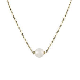 Eternal Collection uskollinen valkoinen 12mm Shell Pearl Gold Tone kaula koru