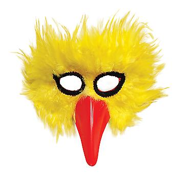 Bristol nieuwigheid gele vogel Feather Eye Mask