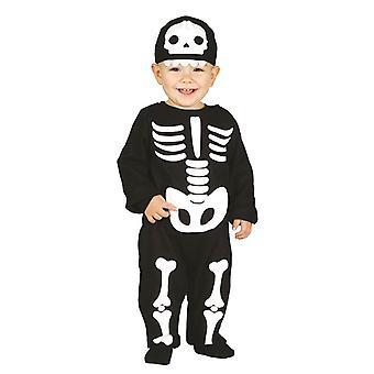 Peuters schattig skelet Halloween fancy dress kostuum