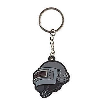 Key Chain - PUBG - Level 3 Helmet Rubber New j8852