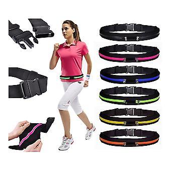 Sports belt with 2pcs pockets, for wallet, keys, mobile ETC.