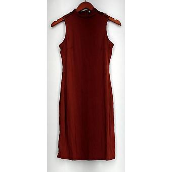 Kate & Mallory Sleeveless Mock Turtle Neckline Dress Brown Womens A434455
