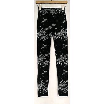 Kate & Mallory Leggings Seamless w/ Fleece Lining Black / Gray A428086
