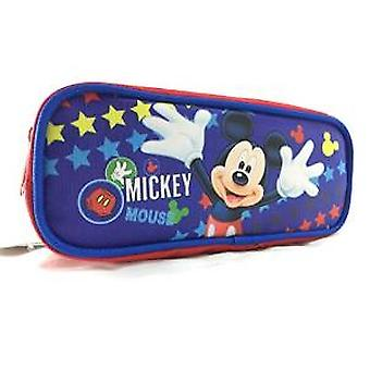 Pencil Case - Disney - Mickey Mouse Blue Pouch Bag Stationery New 683160