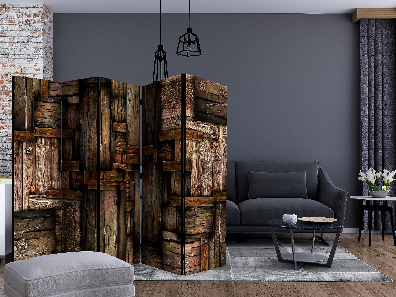 Paravent 5 volets - Wooden puzzle [Room Dividers]