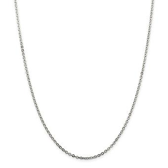 925 Sterling Silver 2mm Flat Cable Chain Necklace Jewelry Gifts for Women - Length: 16 to 24