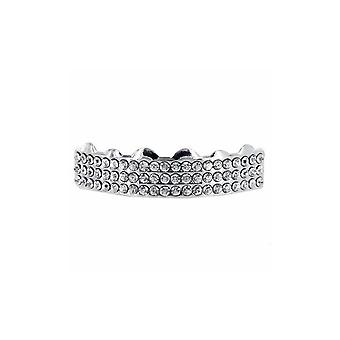 Grillz Cz Diamante de Plata TripleS Filas [Top]
