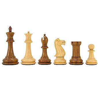 Victoria Series Sheesham and Boxwood Chessmen 3.75 Inches