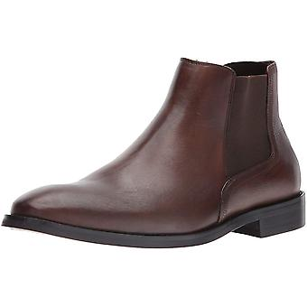 Kenneth Cole New York Mens Design 1024 Leather Closed Toe Ankle Chelsea Boots