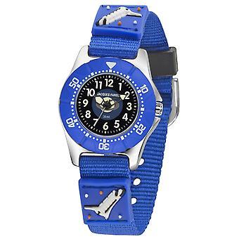 JACQUES FAREL Kids horloge analoge Quartz jongens textiel KWD 3000 ruimte sh.
