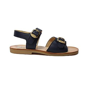 Startrite Bailey Navy Leather Girls Adjustable Sandal