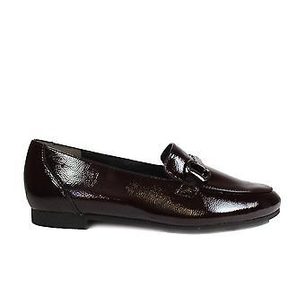 Paul Green 2279-09 Bourgondië Patent Leather Womens slip op loafer schoenen
