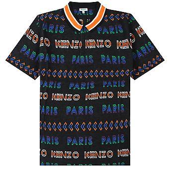 Kenzo Jacquard Logo Polo Shirt