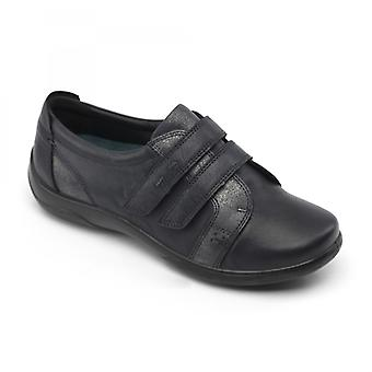 Padders Piano Ladies Leather Extra Wide (2e/3e) Shoes Navy