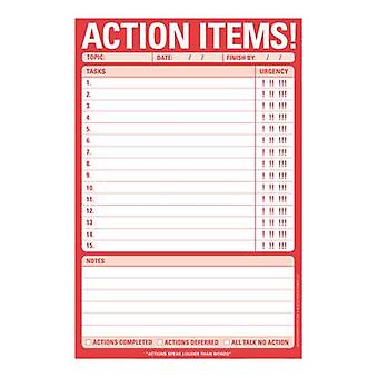 Knock Knock Action Items Pad by Other Knock Knock