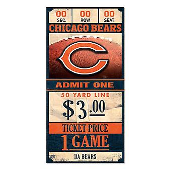 Wincraft NFL signo de madera TICKET Chicago Bears 30x15cm
