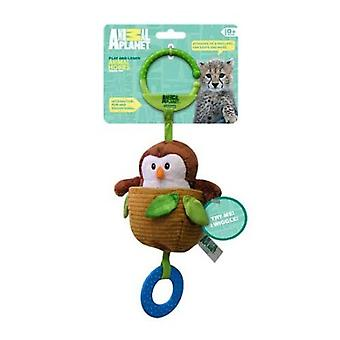 Animal Planet Baby Teether  Rattle and Wiggle Travel Toy-Owl
